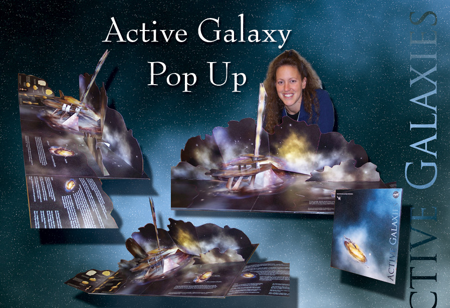 Popup of an Active Galaxy
